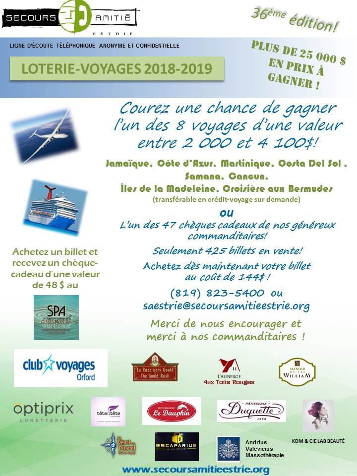 Loterie-voyages - affiche 2018-2019